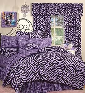 Zebra Purple Bed in a Bag Set, Twin