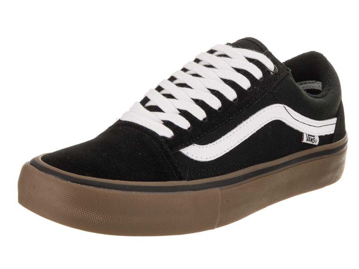 Vans Unisex Old Skool Classic Skate Shoes B01AISV16U 12 D(M) US|Black/Gum/White