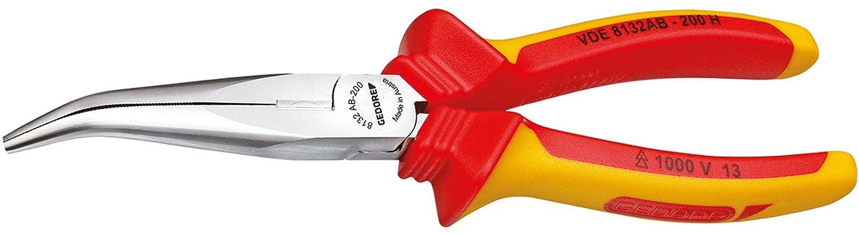 GEDORE 8132 AB-200 H VDE-Flachrundzange mit Hü llenisolierung 200 mm Gedore Werkzeugfabrik GmbH & Co. KG VDE 8132 AB-200 H