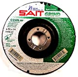 United Abrasives- SAIT 20161 Type 27 4-1/2-Inch x 1/4-Inch x 5/8-11 13300 Max RPM C24N - Concrete Depressed Center Grinding Wheels, 10-Pack