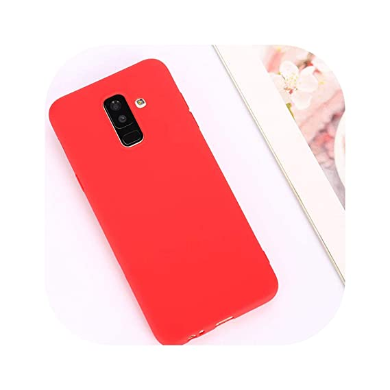 Candy Color Case for Samsung Galaxy A50 A70 A5 2017 J4 J6 Plus J8 A8 A6 A7 2018 S8 S9 S10 Plus S10E Note9 M20 Soft Cover,Red,J4 Plus