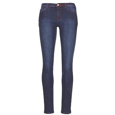 eb45c7bdbc0a Emporio Armani Women s Jeans, Medium Wash, Red Stitching, 6Z2J28-2DQDZ