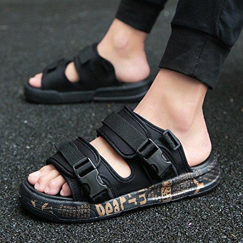 tendenza e gioventù fankou della il sandali personalità scuole delle moda di Uomini oro marea gli nero medie fresco A sandali selvatica estate studenti 36 xqzqwtvS