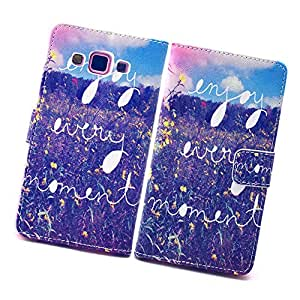 Fabcov Packing Flowers Leather Wallet TPU Cover Case For Samsung Galaxy A3
