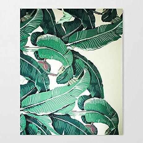 amazon com dkisee banana leaves art print on canvas 12 x 16