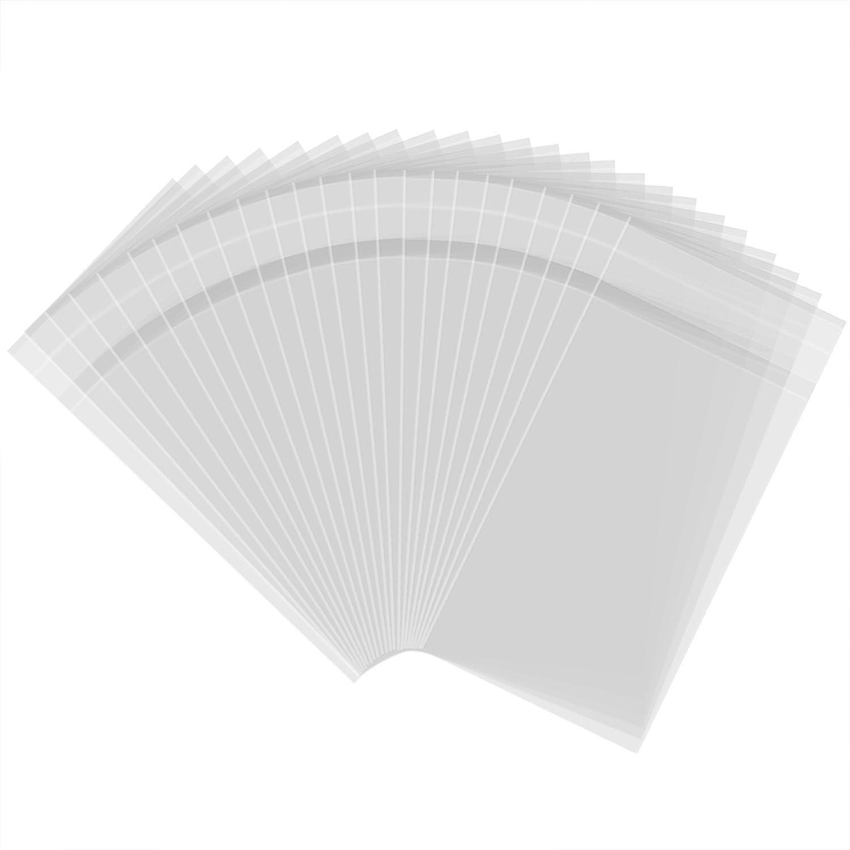 300 Piezas 3 por 5 Pulgadas Bolsas de Celofán Transparentes Bolsas con Cierre Autoadhesivas Bolsa de Tratar Bolsa de Plástico de OPP para Panadería, Dulces, Jabón, Galletas