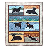 Patch Magic 50-Inch by 60-Inch Black Lab Throw