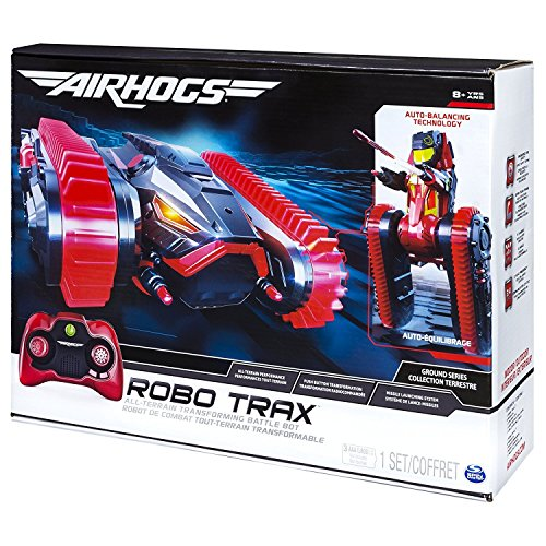 Best Seller Kids Indoor Playtime Fun Air Hogs Robo Trax All Terrain Tank  Rc Vehicle With Robot Transformation