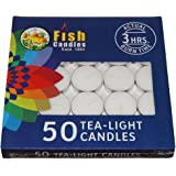 Nanki Trades Wax Tea Light Candle (White, Set of 50, 3 Hours Burn Time)