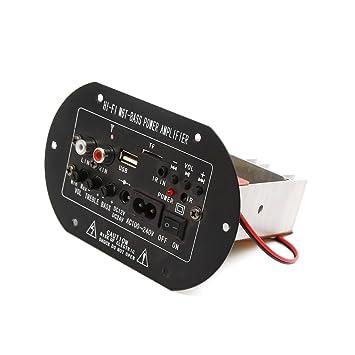 sourcing map Amplificador de Potencia Estéreo Placa Ac100V-240V 12VDC USB Hi Fi M6T-