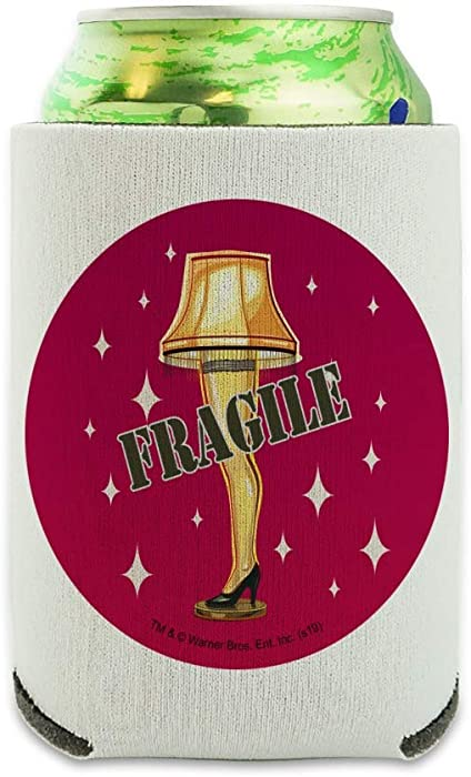 A Christmas Story Fragile Can Cooler - Drink Sleeve Hugger Collapsible Insulator - Beverage Insulated Holder