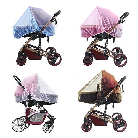 Mosquitera para cochecitos de bebé, carritos, asientos de coche, cunas Carro de bebé con mosquitera de cubierta completa, portátil y duradero, 1 pieza ...