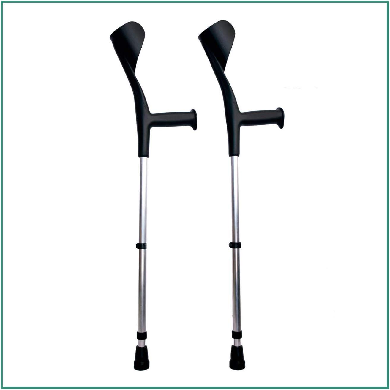 ORTONES | Pack de 2 Muletas Adulto Regulable de Aluminio