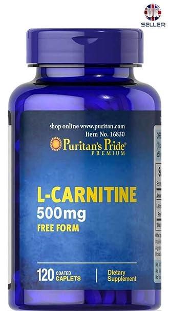 L Carnitine 500mg FREE FORM 120 Coated Caplets