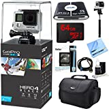 """HERO 4 Black - 4K Action Camera Ultimate Kit. Includes GoPro Hero 4 Black, 64GB Class 10 Micro SDXC R40 Memory Card, Compact Deluxe Gadget Bag, HDMI to Micro-HDMI Cable, 57-in-1 USB Card Reader, 57"""" Full Size Tripod, Tri-fold Memory Card Wallet, and More"""