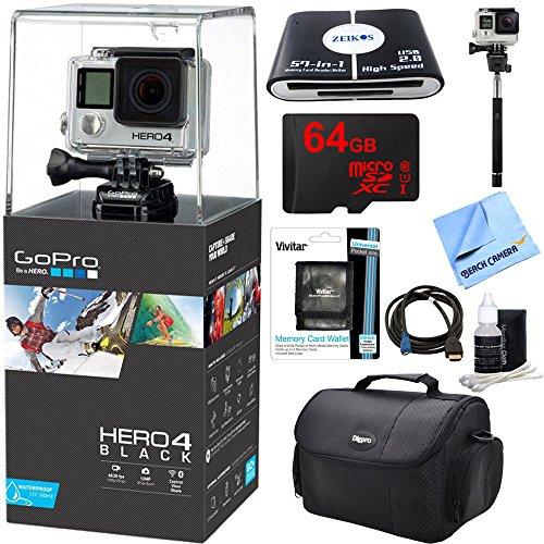 GoPro Hero 4 Black 4K Waterproof Action Camera Kit (9 Items)