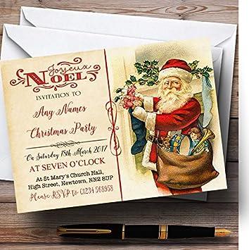 foto de Amazon.com : Noel Vintage Postcard Father Christmas/New Year ...
