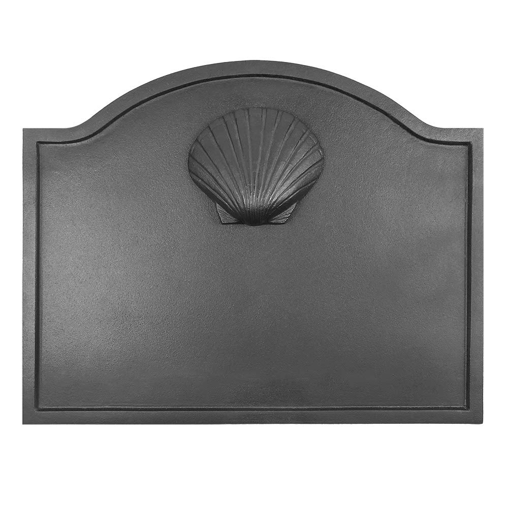 Minuteman International Shell Cast Iron Fireback, Small by Minuteman International