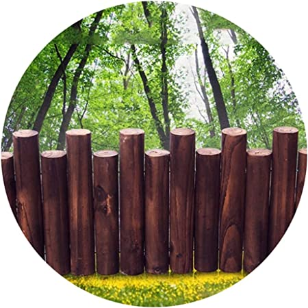 YYFANG Valla Madera Decoración De La Cama De Flores del Jardín Valla De Estaca De Madera Carbonizada Proceso Resistente A La Corrosión Línea Divisoria De Jardín, 9 Tamaños: Amazon.es: Hogar