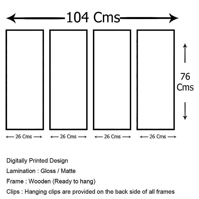999store Digitalmente Impreso laminado de madera casetas de múltiples marcos en paisaje nevado paneles como la pintura - 4 marcos (104 x 76 cms): Amazon.es: ...