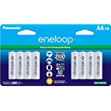 Panasonic BK-3MCCA16BA eneloop AA 2100 Cycle Ni-MH Pre-Charged Rechargeable Batteries, 16 Pack