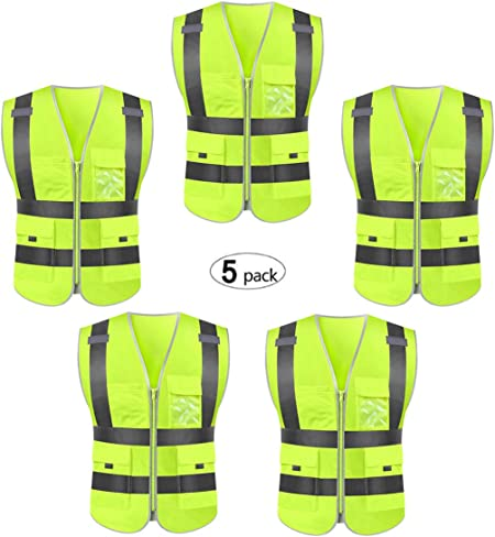 3x High Visibility Student Child Student Reflective Kids Vest Safety Jacket