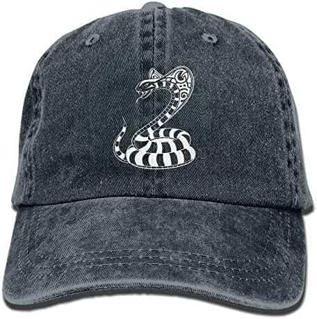 30813c7caa1e8 King Cobra Snake Attack Snapback Cotton Hat