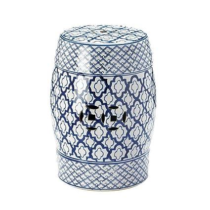 Phenomenal Amazon Com Ak Energy Moroccan Tile Print Blue White Machost Co Dining Chair Design Ideas Machostcouk