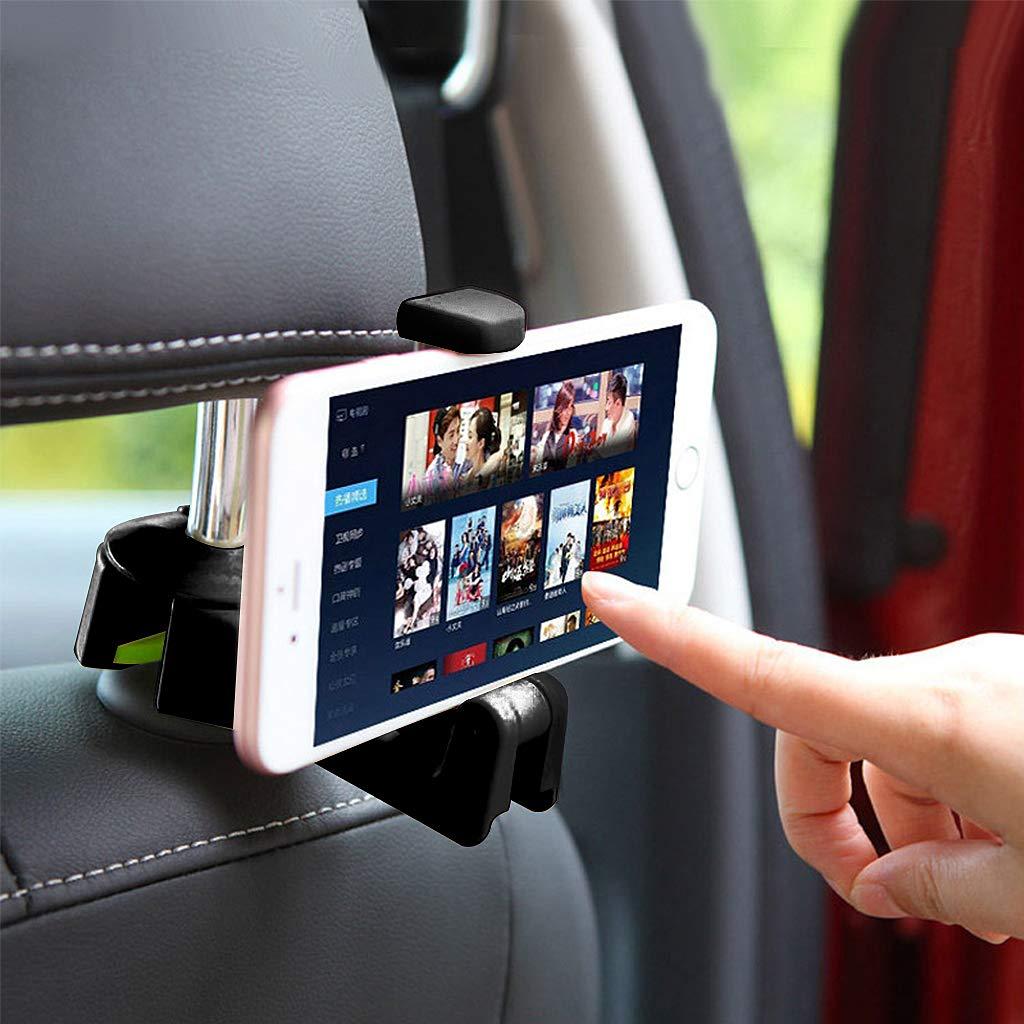 Qiman Auto Kopfstü tze Haken Mit Handyhalter Sitz Zurü ck Kleiderbü gel Fü r Tasche Multifunktions Clips