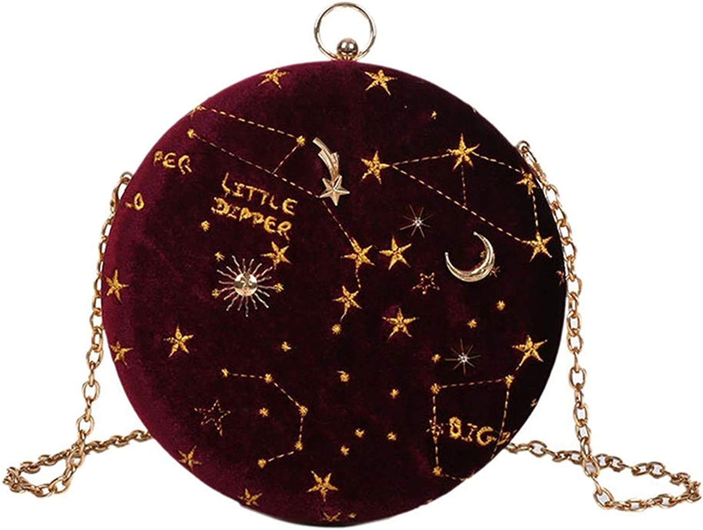 Starry Sky Circular Suede...