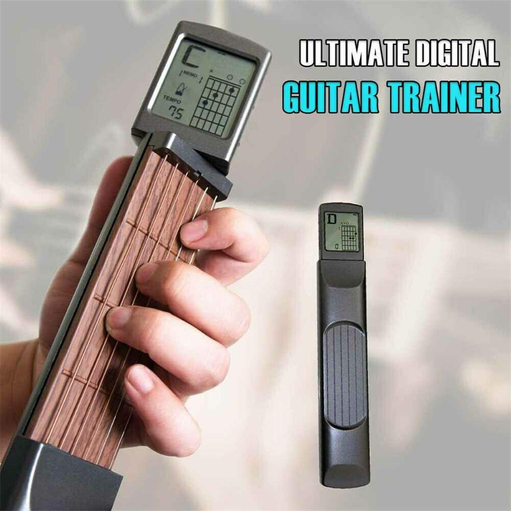 FANORAD Ultimate Digital Guitar Trainer, Portable Digital Handy Guitar Trainer Pocket Practice Tool Musical (1 PC, Black)