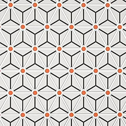 Honeycomb Geometric Wallpaper By Colours Grey Glossy Black