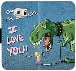 Bueno E3V1R dinosaurio Funda Samsung Galaxy S6 Cartera de cuero funda 1l0558 celular de la caja del teléfono del tirón funda protectora de plástico