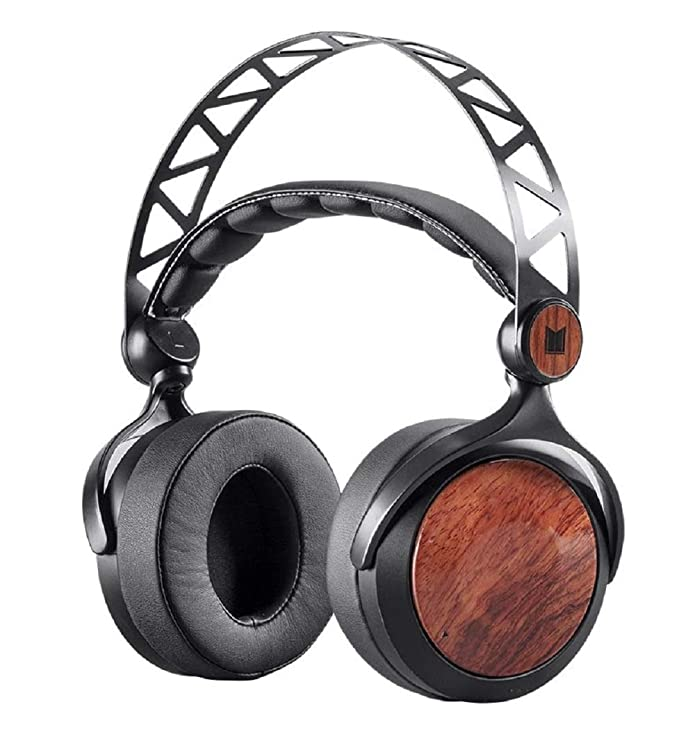 Monoprice Monolith M560 Over Ear Planar Magnetic Headphones - Black/Wood With 56mm Driver, Open or Closed Back Design, Comfort Ear Pads For Studio/Professional