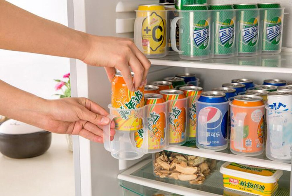 Kühlschrank Organizer Flaschen : Stck flaschen und dosenhalter für kühlschränke gefrierschrank