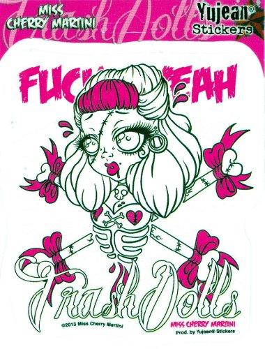 Miss Cherry Martini - Trash Dolls - Sticker / Decal (Pin Up Dolls Tattoos)