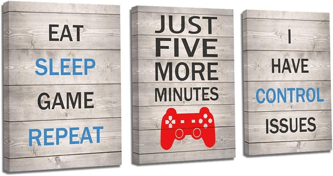 Game Themed Gamer Wall Art Posters Home Decor Gaming Bedroom Pictures Prints Decorations Playrooom Wall Decor