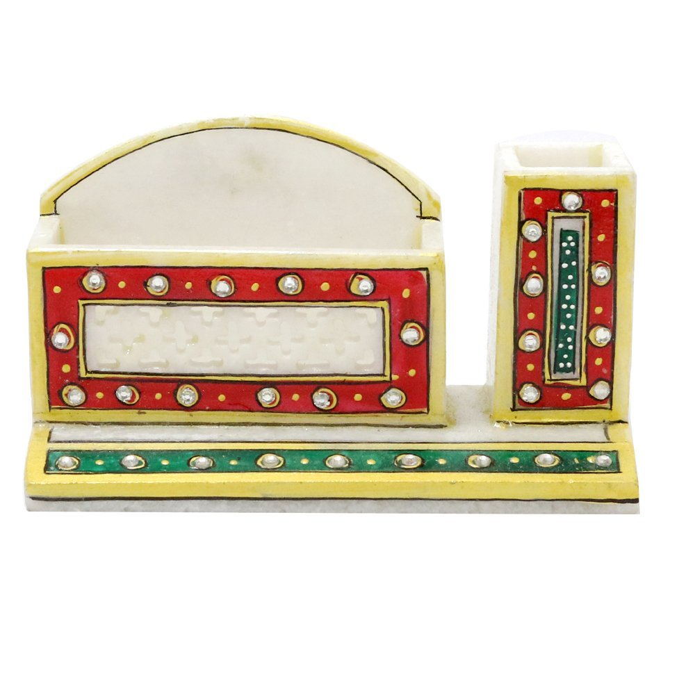 Indian Handicrafts Export Marble Small Small Marble Office Set Pen Stand 6fcb07