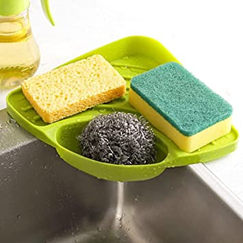 tloowy kitchen gadget organizer sink suction corner shelf wall cuisine dish rack drain shelf sponge holder - Kitchen Sponge Holder