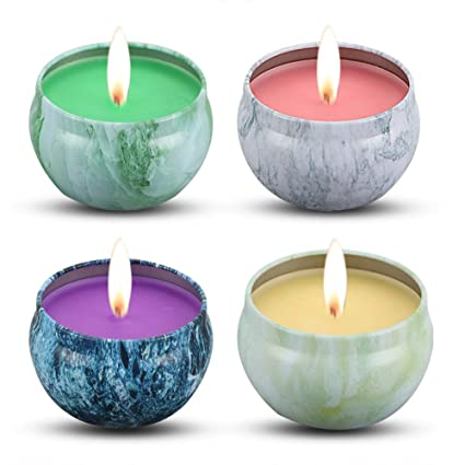 2d951bcdc2 Image Unavailable. Image not available for. Color: KitchenGynti Scented  Candles - Peach, Mango ...