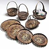 "Two-Tone Coco Midrib Basket Tray Round 14""Dia x 1""H offers"