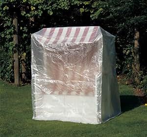 Cubierta, Cubierta protectora, Funda para playa, aprox. 180x 135x 115cm, transparente