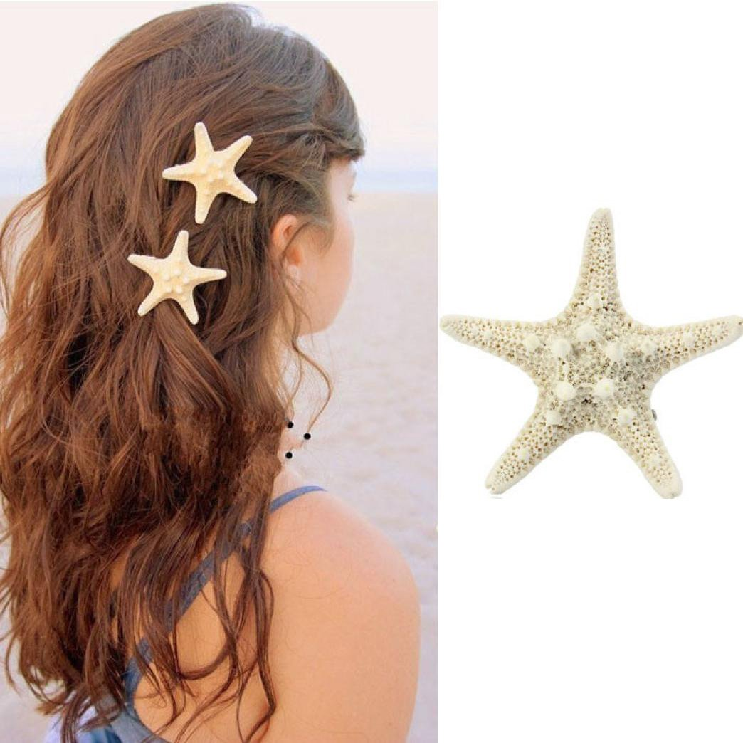 Alonea Hairdressing clips, Women Lady Girls Pretty Natural Starfish Star Beige Hair Clip – DIY Hair Styling (A❤️) by Alonea (Image #1)