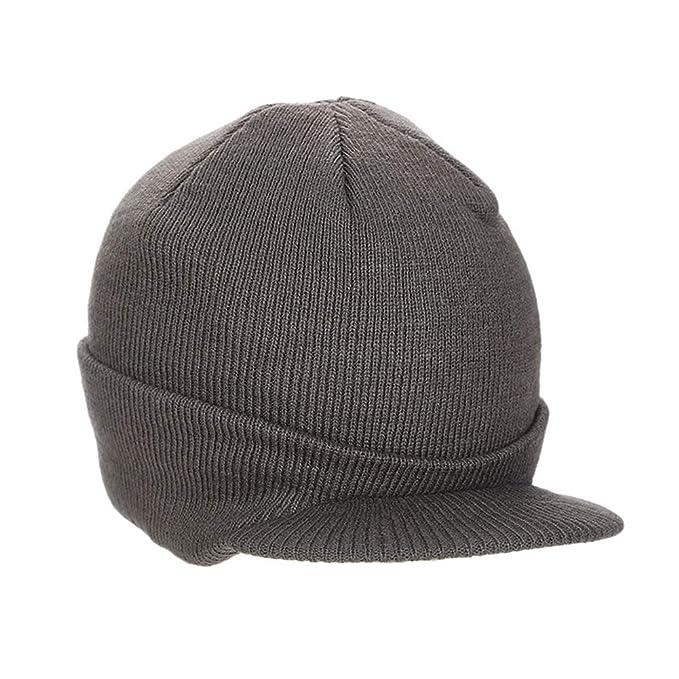 PanDaDa Beanie Hat in maglia visiera invernale 77d57d6bb814