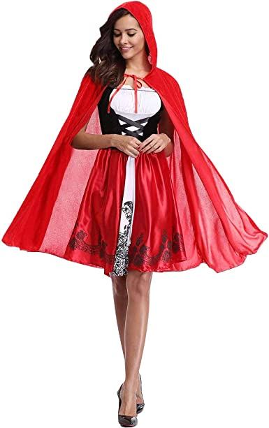 Liny Mujer Disfraz de Caperucita Roja Traje de Fiesta de Halloween ...