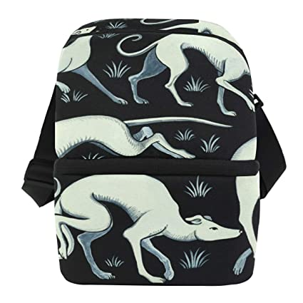 d35fdb228f4b Amazon.com: AISSO Dog Art Painting Lunch Bag Insulated Lunch Box ...