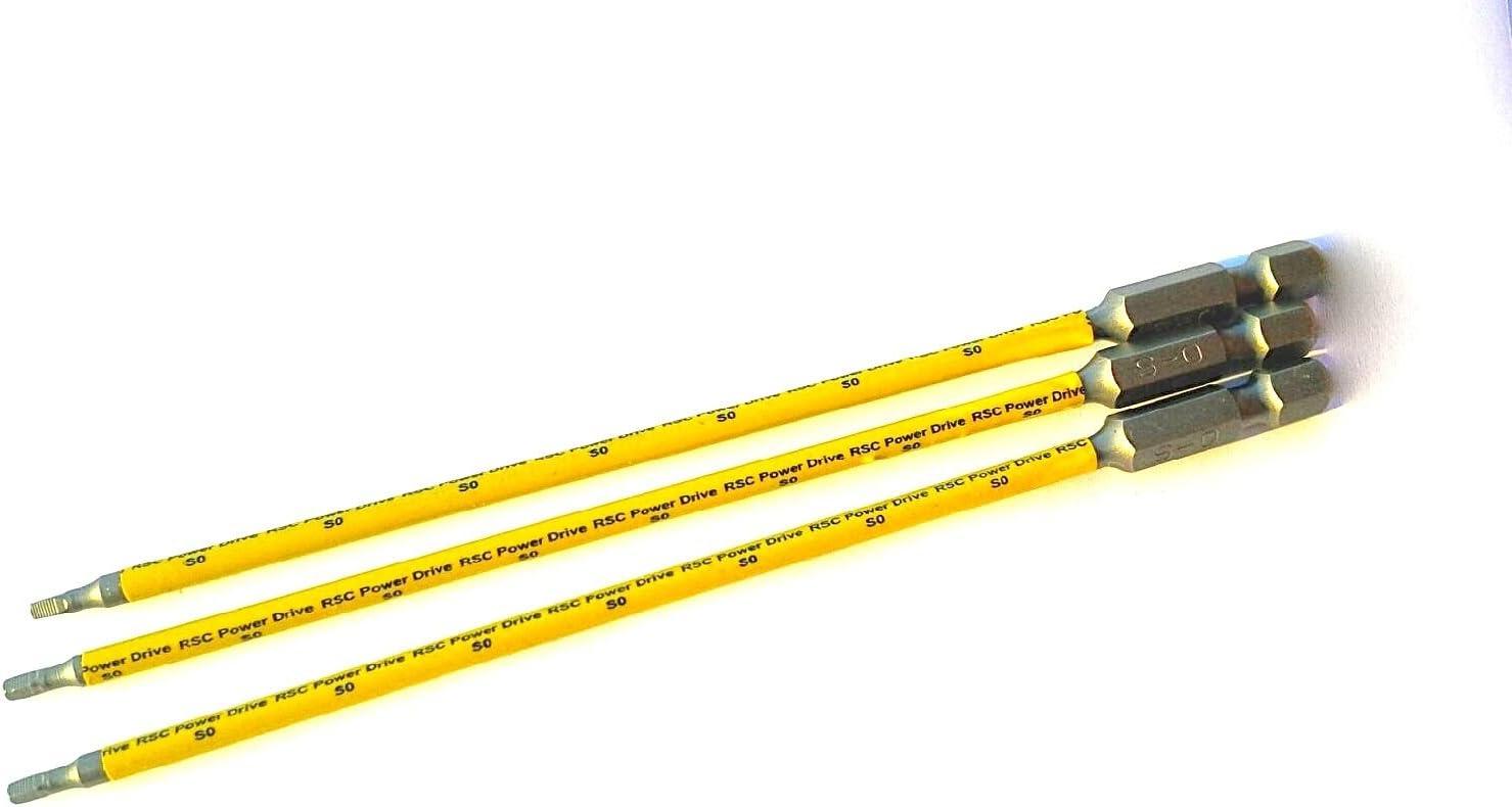 2 1 Acier Inox Robertson Bit Carré Sq 0 Place Bits 3 x 25mm Long