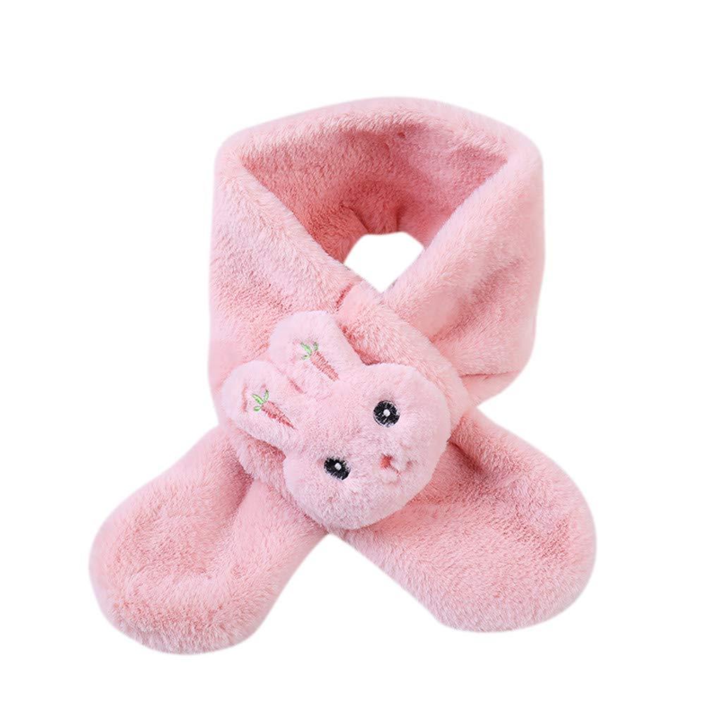 DIASTR Winter Strickschal f/ür Baby Kinder 24 Monate 80 12 cm 8 Jahre Fleece Cartoon Kaninchen Jungen M/ädchen Schals Warm Halstuch Baby Schal