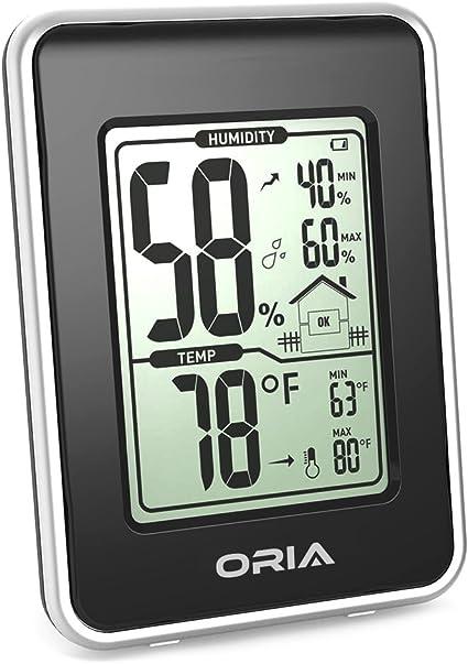 Zimmer Thermometer Hygrometer Digital Min Max Innen Luftfeuchtigkeit DE Weiß