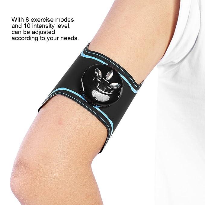 EMS Abs Trainer, almohadilla eléctrica adelgazante de pulso Quema de grasa, Alivia el dolor de la fatiga Masajeador de punto de la correa, adecuada para el ...